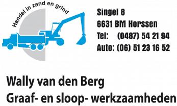 Wally van den Berg Graaf- en Sloop werkzaamheden